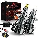 AUXIRACER Bombillas LED D1S / D2S / D3S / D4S para Coche, 360 °CSP 60W 6000K 16000LM IP65 - Kit de Lámpara de Repuesto para Lámparas Halógenas y Luces de Xenón, 2 bombillas