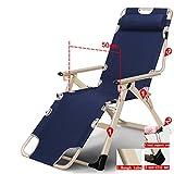 Lazy sofa LI Jing Shop - Plegable portátil Playa Chaise Longue Almuerzo Oficina Individual Simple Cama de la Siesta (Color : #-004)