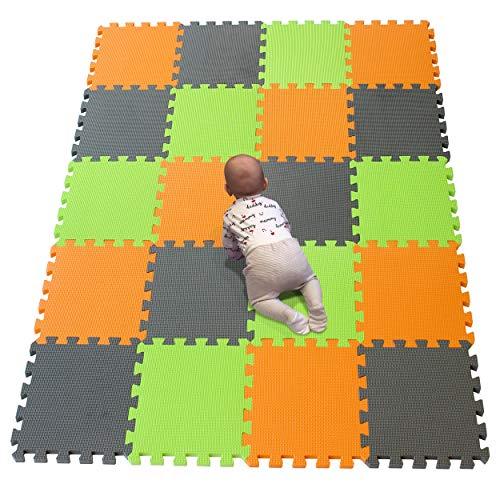 YIMINYUER Alfombra puzles para Bebe Puzzle Infantil Suelo Piezas Goma eva ninos de Suelo Grande Infantiles Naranja Gris Pastoverde R02R12R15G301020