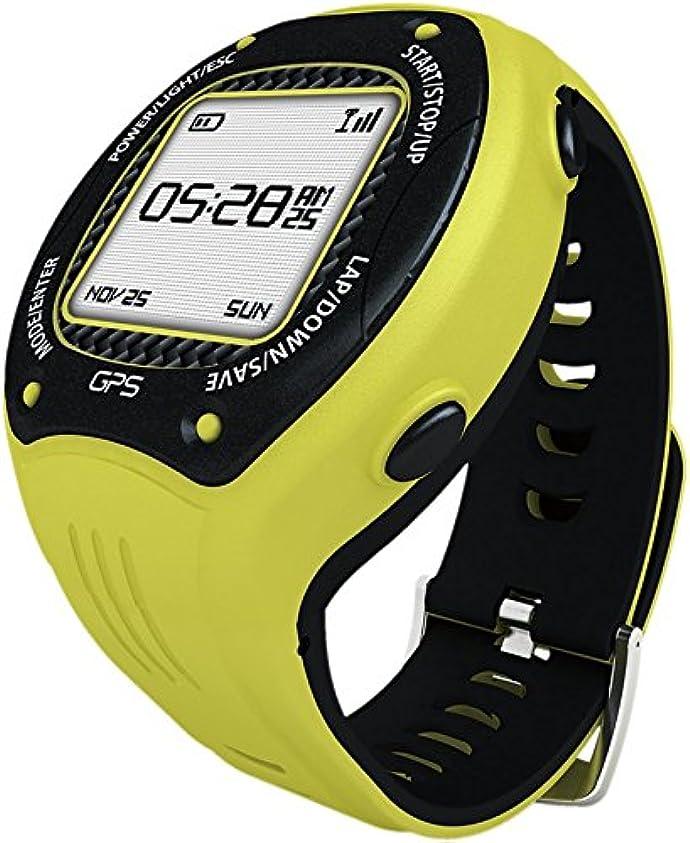 王室刺します優先Posma W3 GPS ナビゲーションランニング サイクリングハイキング マルチスポーツウォッチGセンサー、6軸Eコンパス付き、ANT+ 互換。STRAVA MapMyRide/MapMyRun (BHR20 心拍計 BCB20 速度/ケイデンス センサーの組み合わせが可能です。) グレー/イエロー 黄色