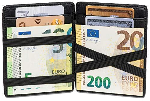 Noah Noir Magic Wallet mit Münzfach - TÜV Geprüfter RFID Schutz (8 Kartenfächer) Magischer Geldbeutel mit Geschenkbox Carbon (Chameleon)
