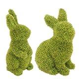 UPKOCH - 2 coniglietti pasquali, statuette decorative, coniglietti, conigli, conigli, sedu...