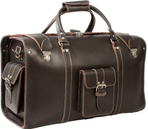 uberbag Oxford épais Vintage légumes Tanné en cuir véritable Sac fourre-tout/sac/bagage cabine - Marron - marron,