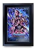 HWC Trading Avengers Endgame A3 Gerahmte Signiert Gedruckt Autogramme Bild Druck-Fotoanzeige...