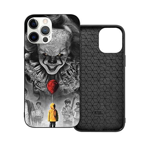 NGNHMFD Pennywise Vs Losers Evil Laughing Clown - Funda para teléfono móvil compatible con iPhone 11 Pro Max 12 Pro Max Mini SE 2020 6/6S 7/8 Plus X XS XR, color negro