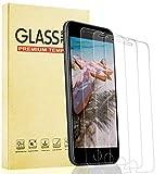 Lixuve 3 Unidades Película Protectoras de Pantalla de Vidrio Templado para iPhone 8/7/6S/6 de 4.7 Pulgadas, 9H Dureza Cristal Templado para iPhone SE 2020, Anti-Huella, Sin Burbujas, Anti-Shatter