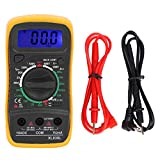 YITingKYTOP Digital Multimeter DC AC Voltmeter, Ohm Volt Amp Test Meter, Electric Tester Ohmmeter with Diode and Continuity, Backlit Display and Insulated Rubber Case Kickstand