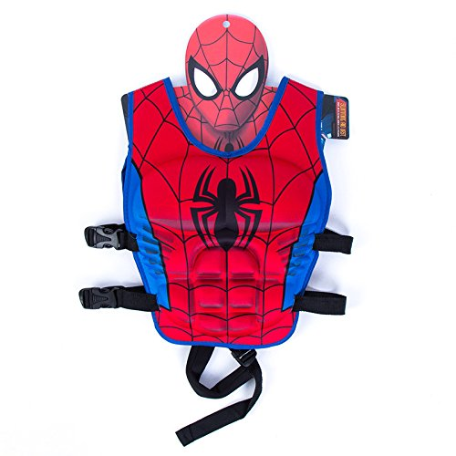 JKSPORTS Children Float Swimming Aid Life Jacket Learn-to-Swim Buoyancy Aid Vest Children Float Vest Kids Swimming Training Jacket Learn to Swim for Boys Girls (Spiderman M Code)