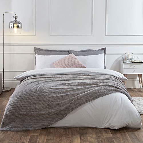Dreamscene - Manta cálida y de Lujo en gris. 125 x 150 cm