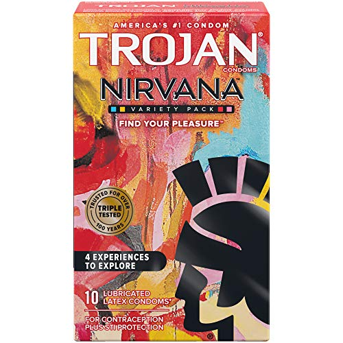 Trojan Nirvana Collection Lubricated Condoms - 10 Count
