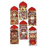 lossomly 60 sobres rojos chinos de 2021, paquete rojo tradicional chino, paquete rojo Hong Bao regalo para bodas y Año Nuevo chino, 3 estilos