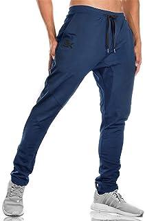 comprar comparacion Brokig - Pantalones de deporte para hombre, corte ajustado, con bolsillos dobles