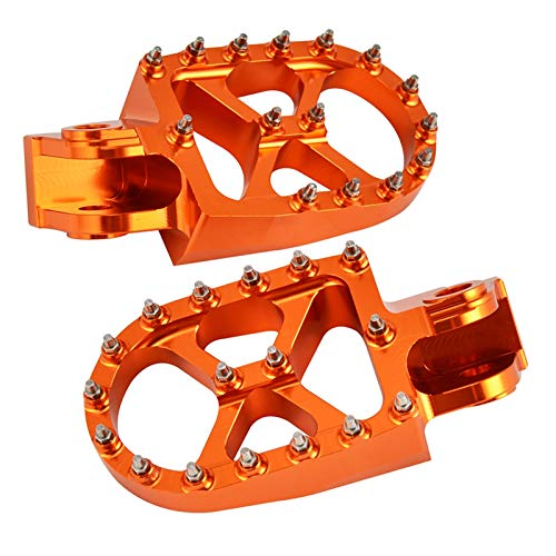 DunMenEn Piezas de Descanso PEGS Pedales Pedales para Husqvarna 701 Enduro Super Moto 2016-2021 TE TC FC FC TX FX 125250 350 450 610 2003-2013 DunMenEn (Color : Orange)