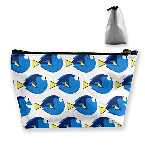 Voyage Multifonction Cosmetic Pouch Bag - Finding Dory Dot White Trapezoid Makeup Organizer Toiletry Wristlet Purse
