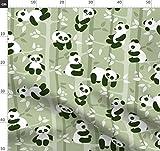 Panda, Tiere, Bär Stoffe - Individuell Bedruckt von