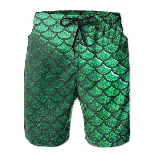 gatetop Balanzas de Sirena en Colores Pastel Verdes Pantalones Cortos para Hombres Ropa de Playa Pantalones Cortos de Secado rápido sin Forro Bañadores para Hombre
