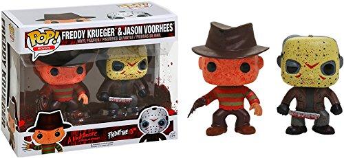 Funko 12001 Freddy Krueger and Jason Voorhees, Pop Vinyl Figure 2 Pack Freddy Krueger and Jason Voorhees