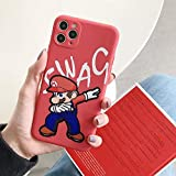 iPhonexsソフトケース用ネットレッドマリオアップル11pro液体電話ケース (iPhone11,マリオ)