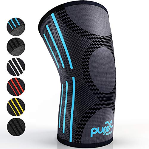 Pure Support Knee Brace Compression Sleeve Support | Patella Stabilizer for Meniscus Tear | Arthritis Pain for Running | Crossfit | Sports | Women | Men