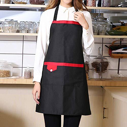 LYDCX Kochschürze Hotel Cafe Restaurant Hotel Fast Food Restaurant Kellner Berufskleidung Herren Und Damen Taillenschürze Schwarz