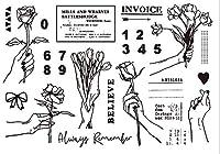 DIYスクラップブッキングフォトアルバム用ジェスチャローズ透明クリアシリコンスタンプシール装飾クリアスタンプM1279