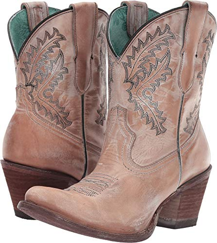 Corral Ld Rose Embroidery Bootie ,Size 8