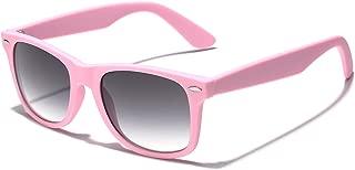 Colorful Retro Fashion Sunglasses - Smooth Matte Finish Frame