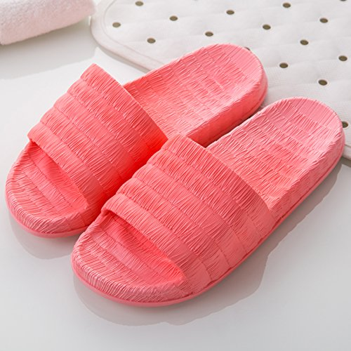 FankouDie Bäder sind kühl im Sommer Sandalen Frauen Hausschuhe in Ihrem Wohnzimmer. Die Gäste ein paar rutschfestem Kunststoff Pantoffeln männlichen Sommer, 37-38, Wassermelone rot