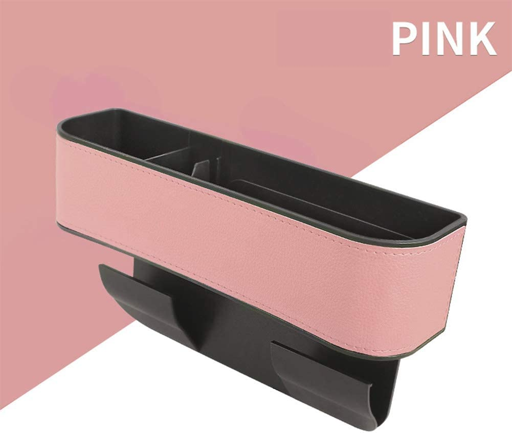 Cup Holder blaRed Wallet Car Seat Gap Storage Box Seat Gap Filler with Cup Holder,Premium PU Leather Console Side Filler Organizer Pocket for Car Accessories Interior Holding Phone