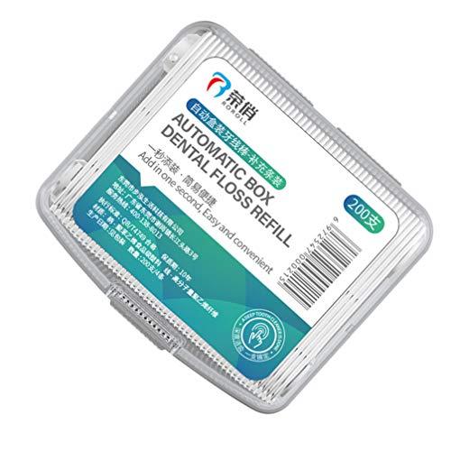 EXCEART 100Pcs Descartável Dental Floss Dental Floss Picks Teeth Cleaner Plástico Varas Ferramentas De Limpeza Dos Dentes Higiene Bucal