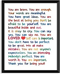 THE FUN GIFT: Perfect gift for building confidence in children, your friends and graduates. HIGH-QUALITY MATERIALS: These designs are printed on quality cardstock paper. Size: 8 x 10 inch. UNFRAMED. DECORATIVE: A high-quality inspirational wall poste...