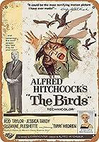 錫金属記号壁装飾1963鳥映画ヴィンテージレトロホームバーパブ装飾装飾ユニークなギフト