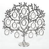Marcos de fotos, Árbol de la familia creativa colgando imagen Imagen de la imagen del escritorio del marco del árbol Decoración hogareña (Color : Silver)