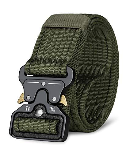 ITIEZY Taktischer Gürtel, Verstellbare Militär-Stil Outdoors Sport Freizeit Gurte Herren Heavy Duty Nylon Gürtel mit schnell-losgelassener Metallschnalle