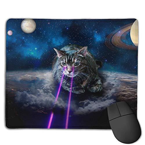 Alfombrilla de ratón Cute Space Laser Cat Rectangular Mousepad Antideslizante Gaming Mouse Pad...