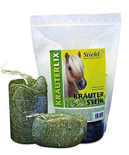 Pferde Kräuter Leckstein Kräuterstein von Stiefel mit allen wertvollen Bronchialkräutern 1 kg = 1000g