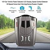 MELLOW Anti Radar Detector Speed Voice Alert Warning,Quality Car 360 Degree 16 B