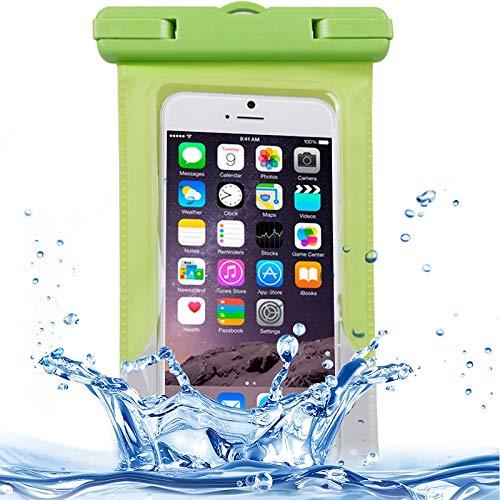 BANAZ La Caja del teléfono Transparente a Prueba de Agua Bolsa Protectora teléfono Cubierta con Correa for iPhone 6/5 / 5S / 5C (Color : Green)