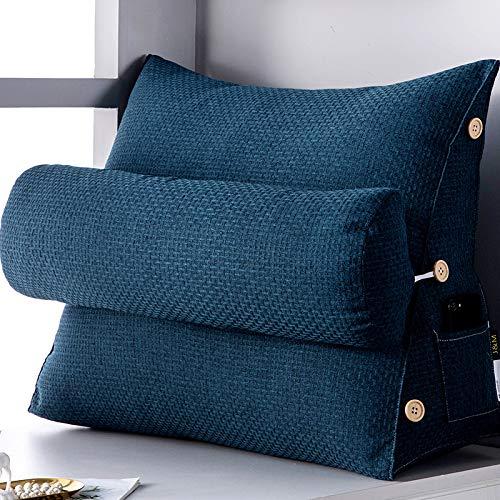 Keilkissen Für Bett Und Sofa | Rückenstütze | Nackenkissen | Lesekissen | Das Perfekte Couch Kissen Für Ihr Zuhause,G-58X22X50CM