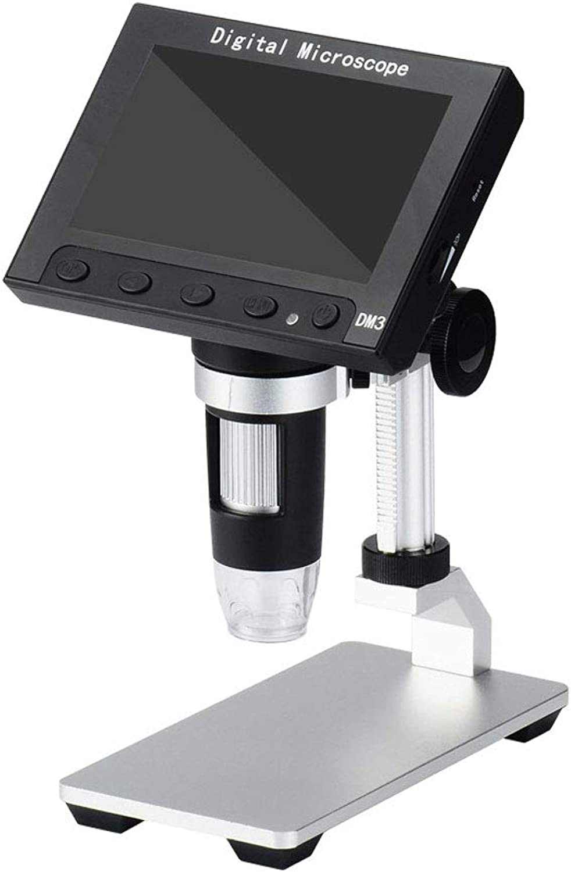 mas preferencial Microscopio Digital LCD de 4.3 Lupa USB USB USB con Base Plana 1-1000X Zoom de ampliación Continua, 8 LED Fuente de luz Ajustable, Batería de Litio ReCochegable, Grabador de Video de la cámara  grandes ofertas