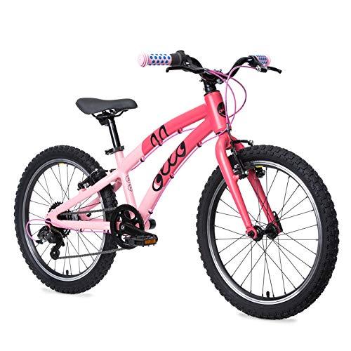 OLLO Kinderfahrrad 20 Zoll (ab 6 Jahre) für Jungen & Mädchen, leicht, Gangschaltung - pink