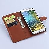 Manyip Samsung Galaxy E7 Hülle, PU Flip Leder Tasche