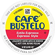 Café Bustelo Espresso Style Dark Roast Coffee, 96 K Cups for Keurig Coffee Makers