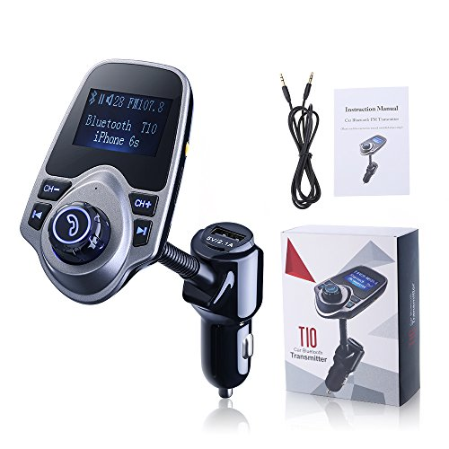 VicTop Bluetooth Trasmettitore FM e USB Car Charger Kit...