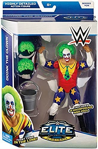 DOINK THE CLOWN - WWE ELITE 34 MATTEL TOY WRESTLING ACTION FIGURE by Wrestling by Mattel