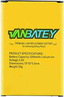 Galaxy Note 3 Battery 3200mAh EB-B800BE Batteries with NFC for Samsung Note3 N9000 N9002 N9005 N900A N900P N900T N900V N9006 N9008 N9009