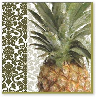 Scout & Company Expotic Tropical Exotic Pineapple Fruit Cocktail Napkins - Designer Cocktail Napkins 3-ply, 40 count - For...