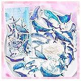 AIUIN 60x Ephemera Set Notizsticker im Stil von Heißprägen DIY Aufkleber Japan Mädchen/Junge Sticker für Kinder Deko Sticker (Style 6) -