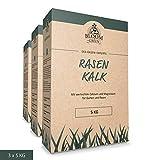Rasenkalk Bloom & Green (3 x 5 kg) I Garten-Kalk für...