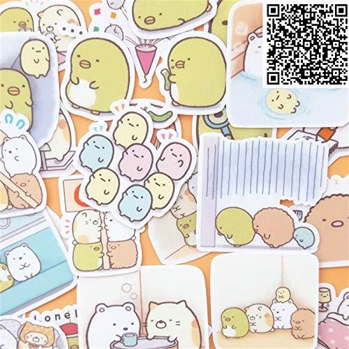 PMSMT Nuevas Pegatinas de microorganismos de Dibujos Animados de Moda, Juguete para Diario de Libro de Ejercicios DIY, 30 Hojas, un Paquete de Juguetes para niños, Pegatina de Juguete Colorida